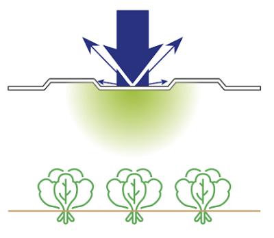 Монолитный поликарбонат для теплиц Diffusion