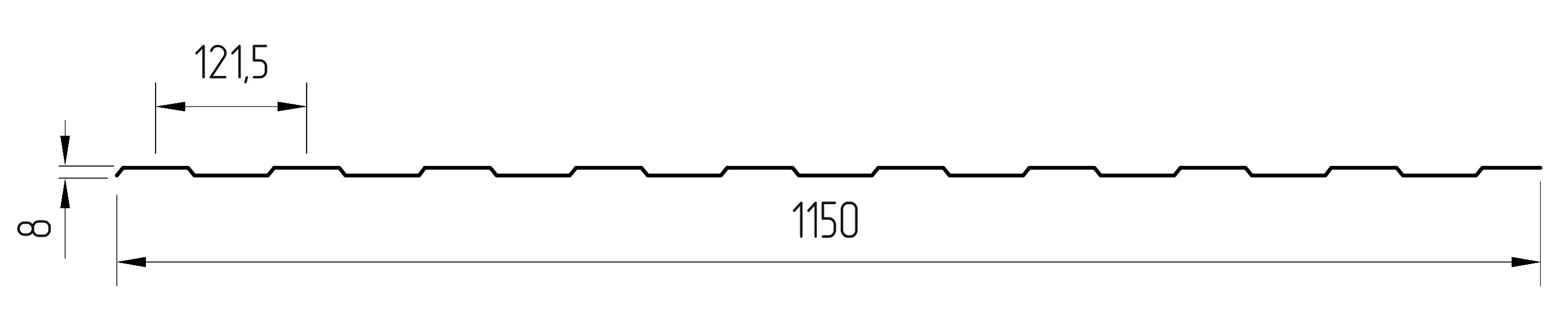 Форма трапеции монолитного поликарбоната «ПЛАСТИЛЮКС ДЛЯ ТЕПЛИЦ»