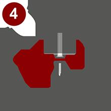 Монтаж профилированного монолитного поликарбоната осуществляется горизонтальными рядами перемещаясь снизу вверх