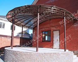 Купольный навес из поликарбоната