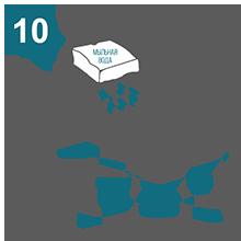 Не используйте моющие средства с абразивными веществами, концентрированные щелочи, растворители