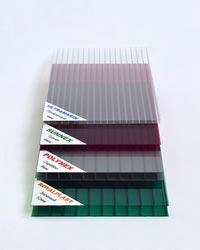 Однослойный двухстеночный поликарбонат 4; 6; 8; 10 мм