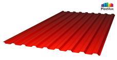 Красный профилированный поликарбонат