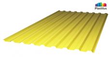 Желтый профилированный поликарбонат