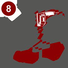 Сверление при горизонтальном (кровельном) монтаже производится исключительно в узкий гребень (меньшую трапецию) монолитного профилированного поликарбоната