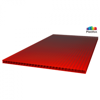 Сотовый поликарбонат ROYALPLAST красный 2100х6000х6мм