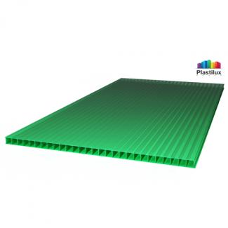 Сотовый поликарбонат ROYALPLAST зелёный 2100х12000х8мм