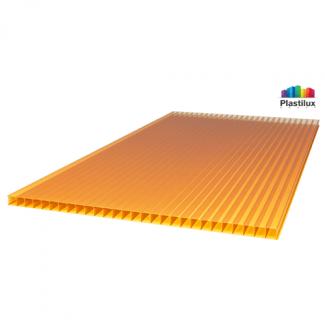 Сотовый поликарбонат SUNNEX оранжевый 2100х12000х4мм