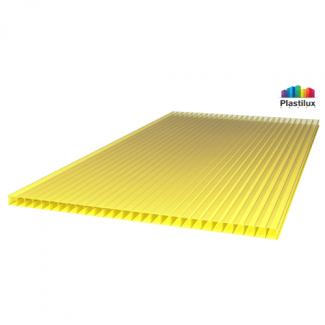 Сотовый поликарбонат ULTRAMARIN жёлтый 2100х6000х4мм