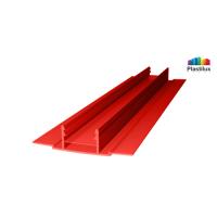 Поликарбонатный профиль ROYALPLAST HCP-D база красный 4-10мм 6000мм