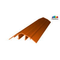 Поликарбонатный профиль ROYALPLAST HCP-U крышка янтарь 4-10мм 6000мм