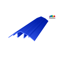 Поликарбонатный профиль ROYALPLAST HCP-U крышка синий 4-10мм 6000мм