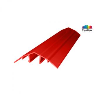 Профиль для поликарбоната ROYALPLAST HCP-U крышка красный 4-10мм 6000мм