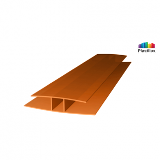 Поликарбонатный профиль ROYALPLAST HP соединительный янтарь 4мм 6000мм