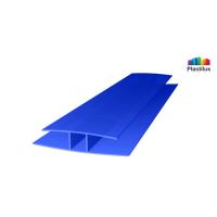 Профиль для поликарбоната ROYALPLAST HP соединительный синий 4мм 6000мм