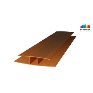 Поликарбонатный профиль ROYALPLAST HP соединительный бронза 4мм 6000мм