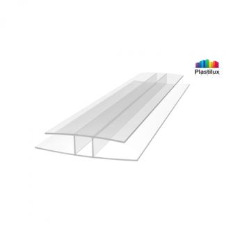 Профиль для поликарбоната ROYALPLAST HP соединительный прозрачный 6мм 6000мм