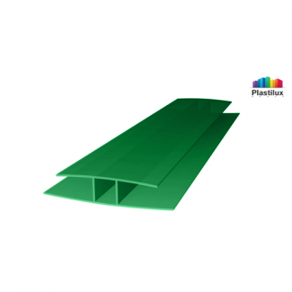 Поликарбонатный профиль ROYALPLAST HP соединительный зелёный 10мм 6000мм