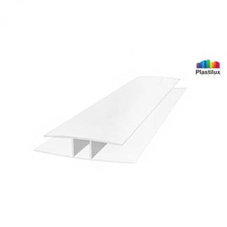 Поликарбонатный профиль ROYALPLAST HP соединительный белый-матовый 6мм 6000мм