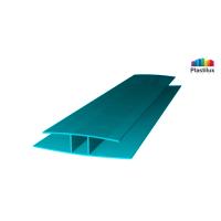 Поликарбонатный профиль ROYALPLAST HP соединительный бирюза 10мм 6000мм