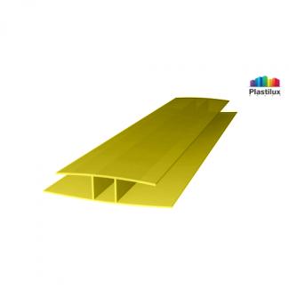 Профиль для поликарбоната ROYALPLAST HP соединительный жёлтый 10мм 6000мм