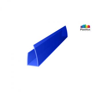 Профиль для поликарбоната ROYALPLAST UP торцевой синий 4мм 2100мм