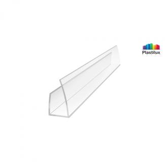 Поликарбонатный профиль ROYALPLAST UP торцовый прозрачный 8мм 2100мм
