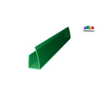 Поликарбонатный профиль ROYALPLAST UP торцовый зелёный 8мм 2100мм