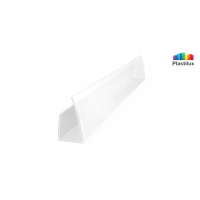 Профиль для поликарбоната ROYALPLAST UP торцевой белый-матовый 6мм 2100мм