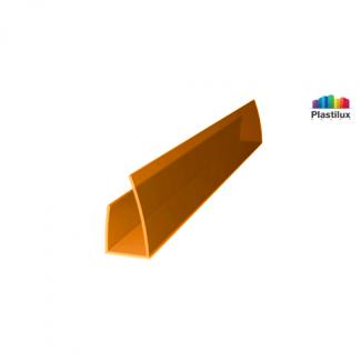 Профиль для поликарбоната ROYALPLAST UP торцевой оранжевый 10мм 2100мм
