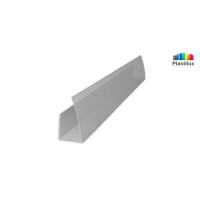 Поликарбонатный профиль ROYALPLAST UP торцовый серебро 8мм 2100мм