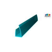 Поликарбонатный профиль ROYALPLAST UP торцовый бирюза 10мм 2100мм