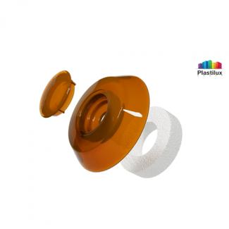 Термошайба для поликарбоната УП500 янтарь D=40мм