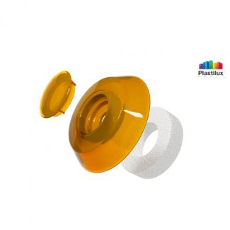 Термошайба для поликарбоната УП500 оранжевый D=40мм